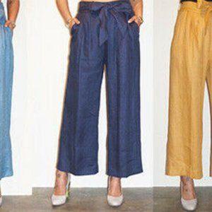 Estee by Jaijin 8 Linen Wide Leg Culottes Pants